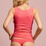 Bezešvé bavlněné tanga CHANGE Seamless Dusty Pink