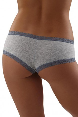 Bavlněné panty kalhotky lemované širokou krajkou