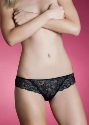 Černé brazilky Holly Lormar z jemné elastické krajky