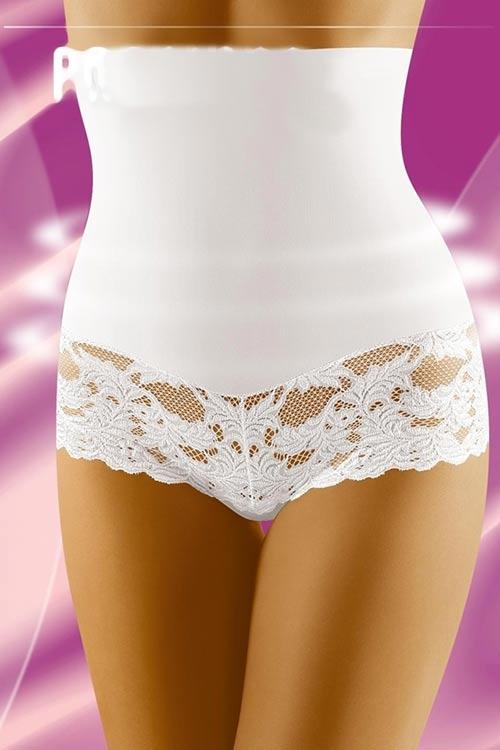 Bílé zeštíhlující kalhotky krásně tvarující postavu