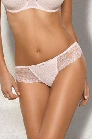 Dámské krajkové kalhotky typu brazilky se sníženou linií boků