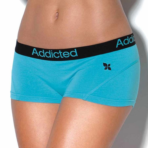 Modré kalhotky Addicted s nohavičkou