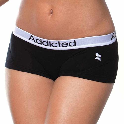 Černé nohavičkové kalhotky Addicted