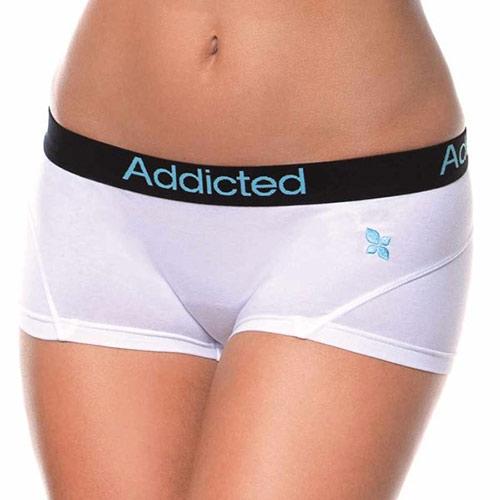 Dívčí bílé kalhotky Addicted s nohavičkou
