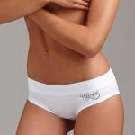Klasické bílé kalhotky s širším lemem Lovelygirl 6393