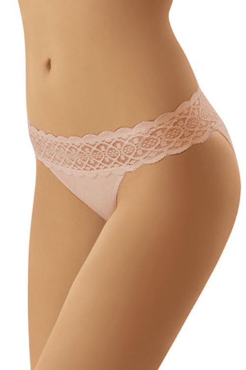 Bokové kalhotky s krajkovou gumou Korin midi