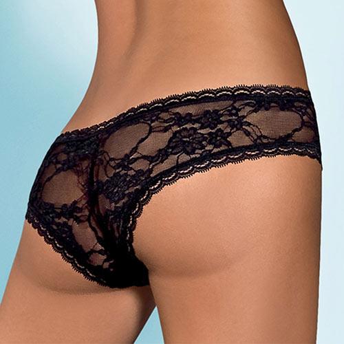 Luxusní krajkové kalhotky francouzského střihu Hotina Black