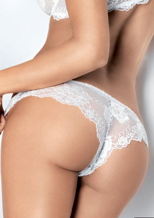 Elegantní krajkové svatební kalhotky brazilkového střihu Lomar Prestige