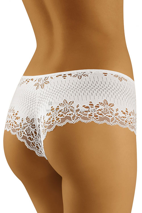 Elegantní dámské bílé kalhotky šortkového střihu Pari začky Wolbar