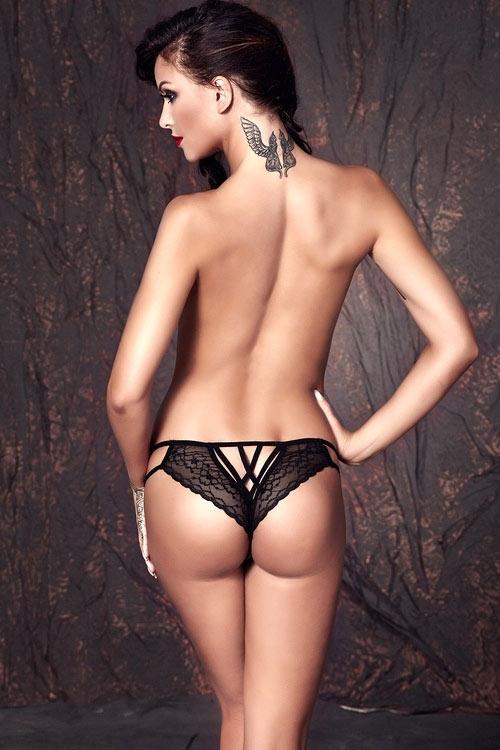 Černé erotické kalhotky
