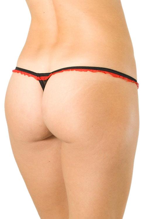 Červeno-černá mini tanga