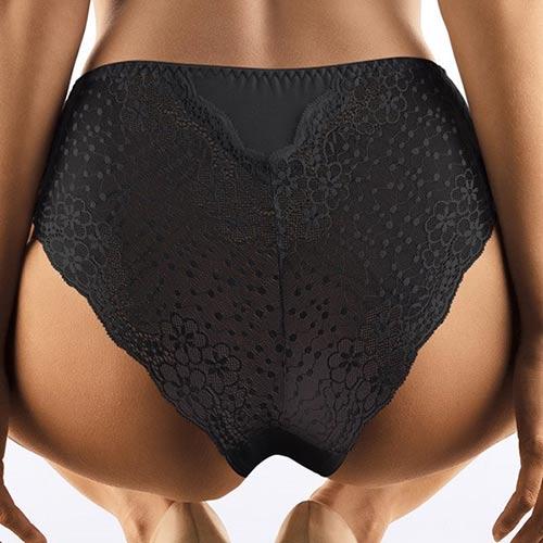 Černé kalhotky se zvýšeným pasem