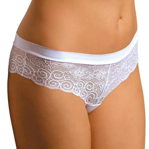 Bílé svatební kalhotky brazilky