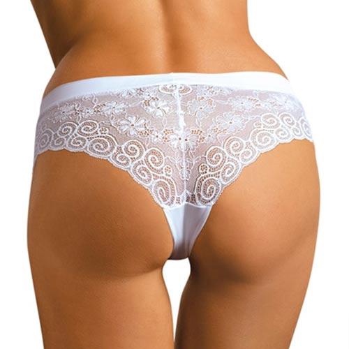 Levné celokrajkové dámské kalhotky brazilky