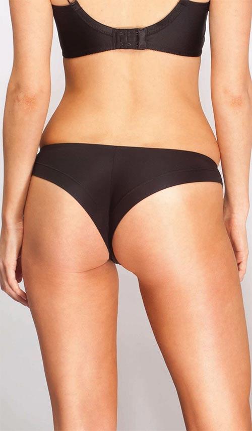 Černé hladké brazilské kalhotky Triola