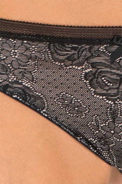 Černobílé krajkové kalhotky