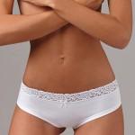 Bavlněné hladké kalhotky Lovely girl lemované elastickou krajkou
