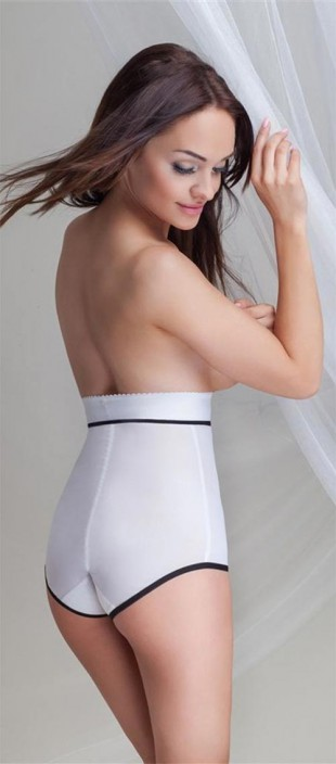 Bílé XL stahovací kalhotky Mitex Dream