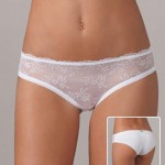 Levné dámské bokové kalhotky s krajkou Lovely girl 5713