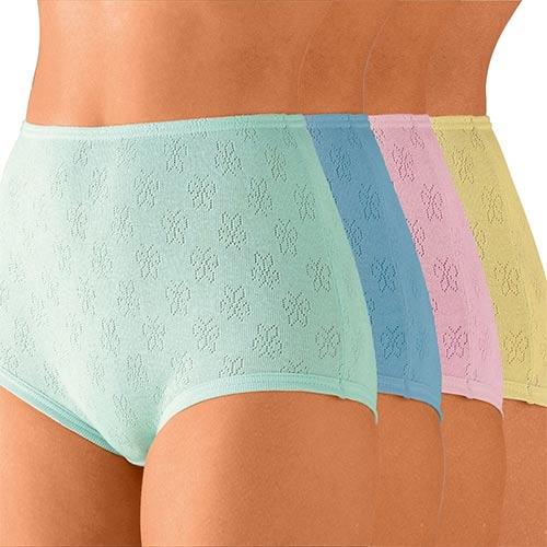 Barevné žakárové kalhotky