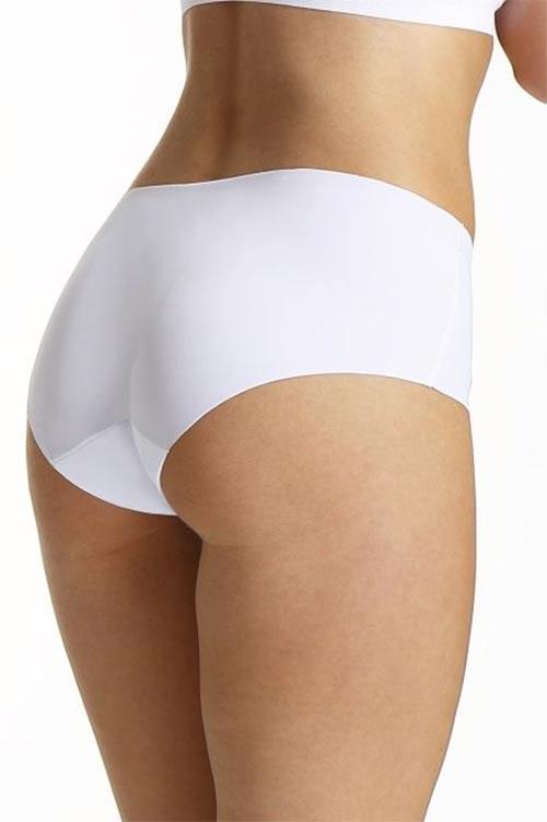 Bezešvé bílé laserové kalhotky