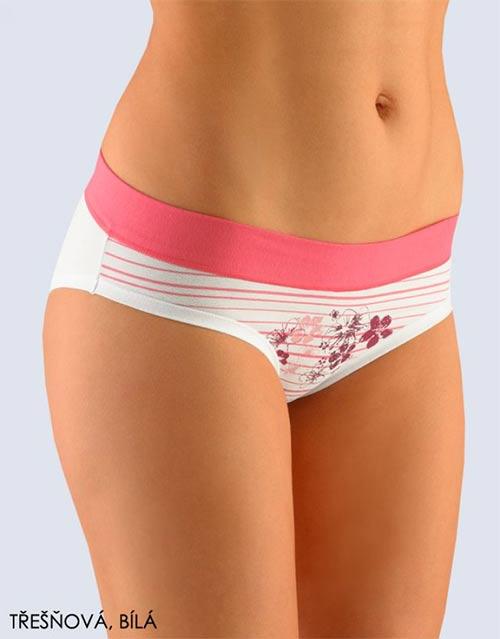 Růžovo-bílé bavlněné kalhotky