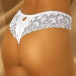 Luxusní krajkové dámské kalhotky tanga WolBar