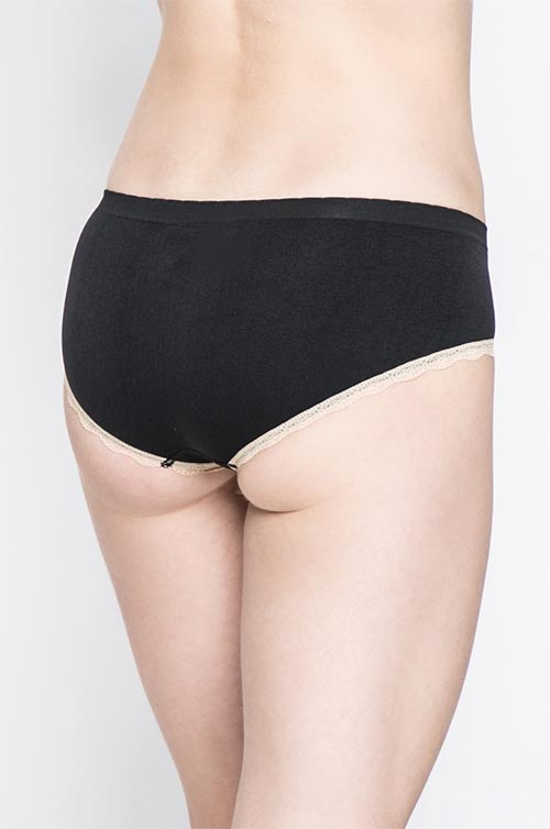 Černé klasické kalhotky
