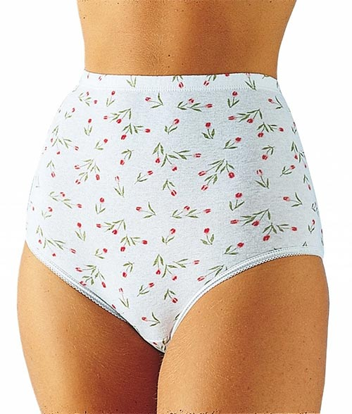 Kalhotky maxi s motivem tulipánů