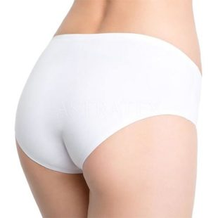 Klasické kalhotky s mírně zvýšeným pasem opracované laserovou technikou