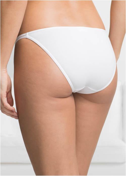 Levné bílé bavlněné kalhotky