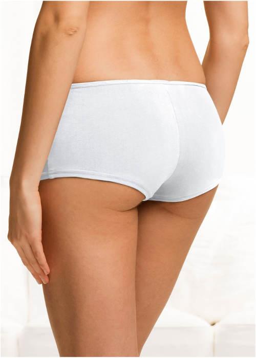 Bílé bavlněné kalhotky