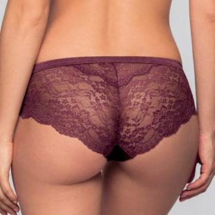 Fialové francouzské krajkové kalhotky