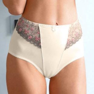 Luxusní stahovací kalhotky z vyšívaného tylu