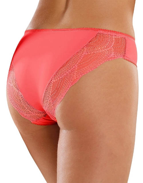 Růžové maxi kalhotky s krajkou