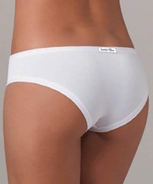 Pohodlné bílé bavlněné kalhotky