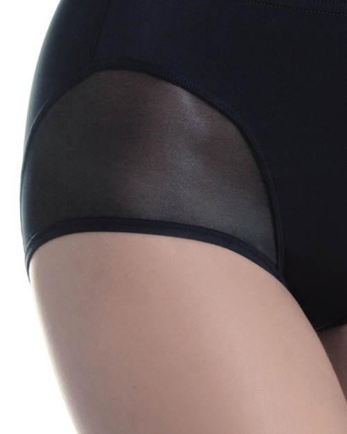 Stahovací kalhotky s průsvitnou nohavičkou