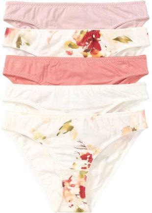 Balení bílo-růžových kalhotek s potiskem