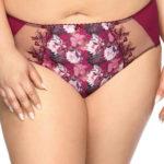 Květinové kalhotky Gaia fialové barvy