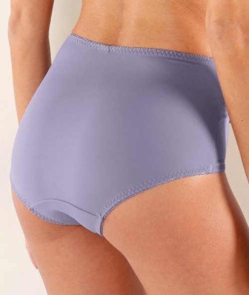 Vyšší stahovací fialové kalhotky