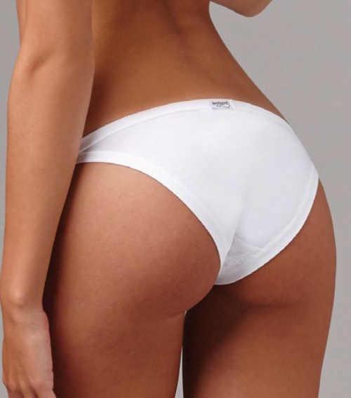 Bílé bavlněné kalhotky s modalem