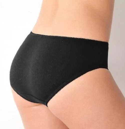 Jednobarevné černé kalhotky z bavlny pro starší
