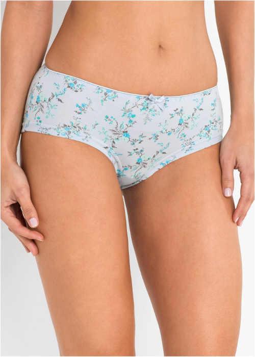 Levné bavlněné bokové kalhotky s květinovým potiskem
