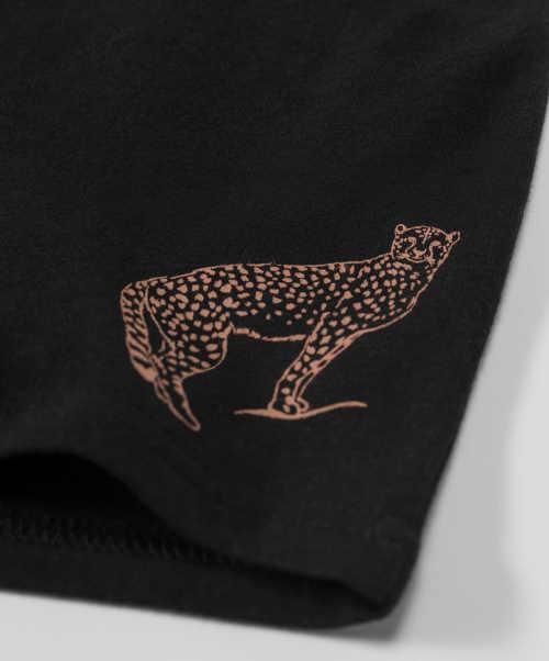 Kalhotky s leopardem na nohavičce