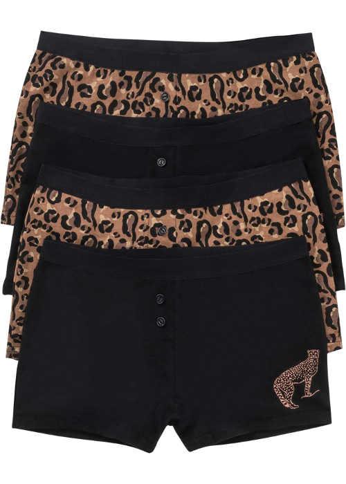 Pohodlné dámské boxerky s leopardím vzorem