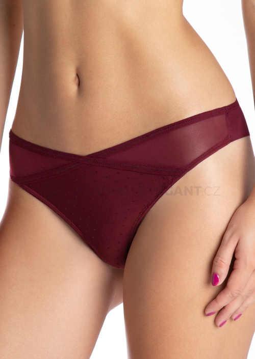 Bezešvé tanga kalhotky vínové barvy