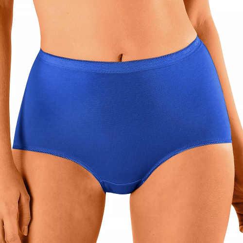 Modré dámské maxi kalhotky z pružné bavlny