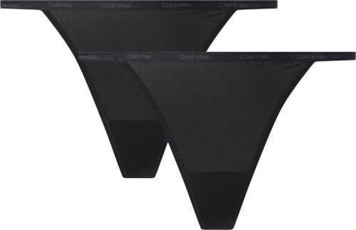 Dámské kalhotky string v černém provedení Calvin Klein