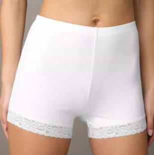Boxerkové dámské kalhotky s krajkovými nohavičkami