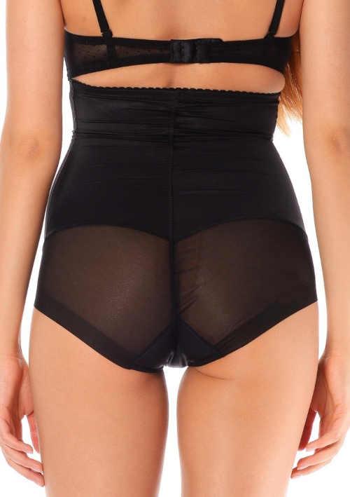 černé stahovací vysoké kalhotky